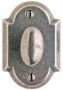 "2 1/2"" x 3 3/4"" Arched Escutcheon"